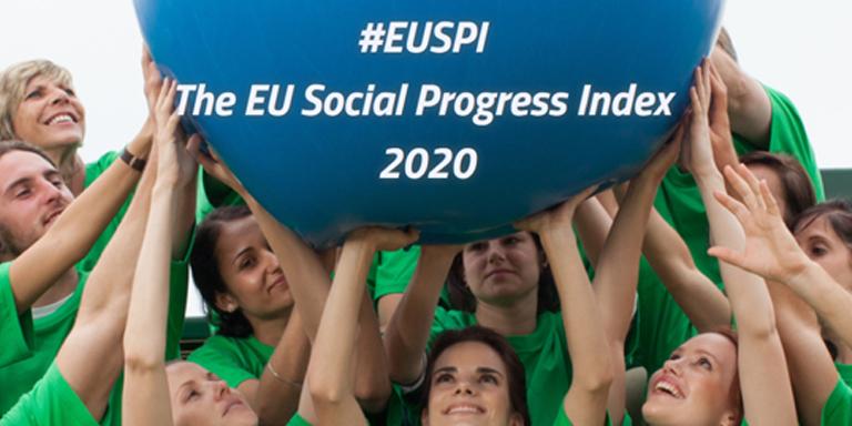 A presentation named 2020 EU Regional Social Progress Index