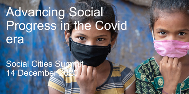 A presentation named Advancing Social Progress in the Covid era