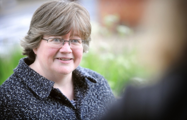 Suffolk Coastal MP Therese Coffey led the delegation to Whitehall Picture: GREGG BROWN