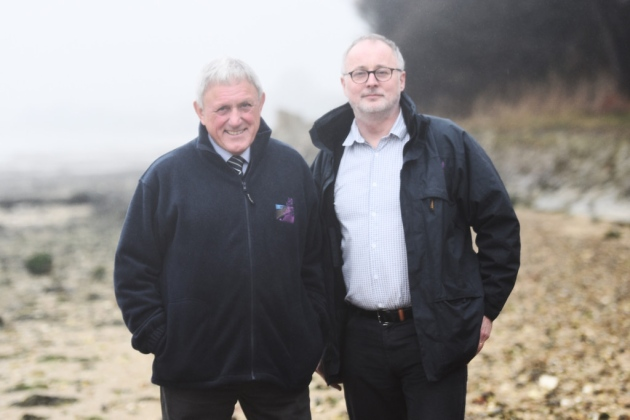 Left to right, AONB Partnership chairman David Wood and manager Simon Amstutz. Picture: GREGG BROWN