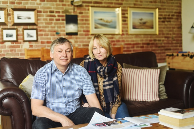 Ray and Diane Pearce at their home in Reepham which is metres away from where the cables from two offshore windfarms are scheduled to cross. Picture: Ian Burt