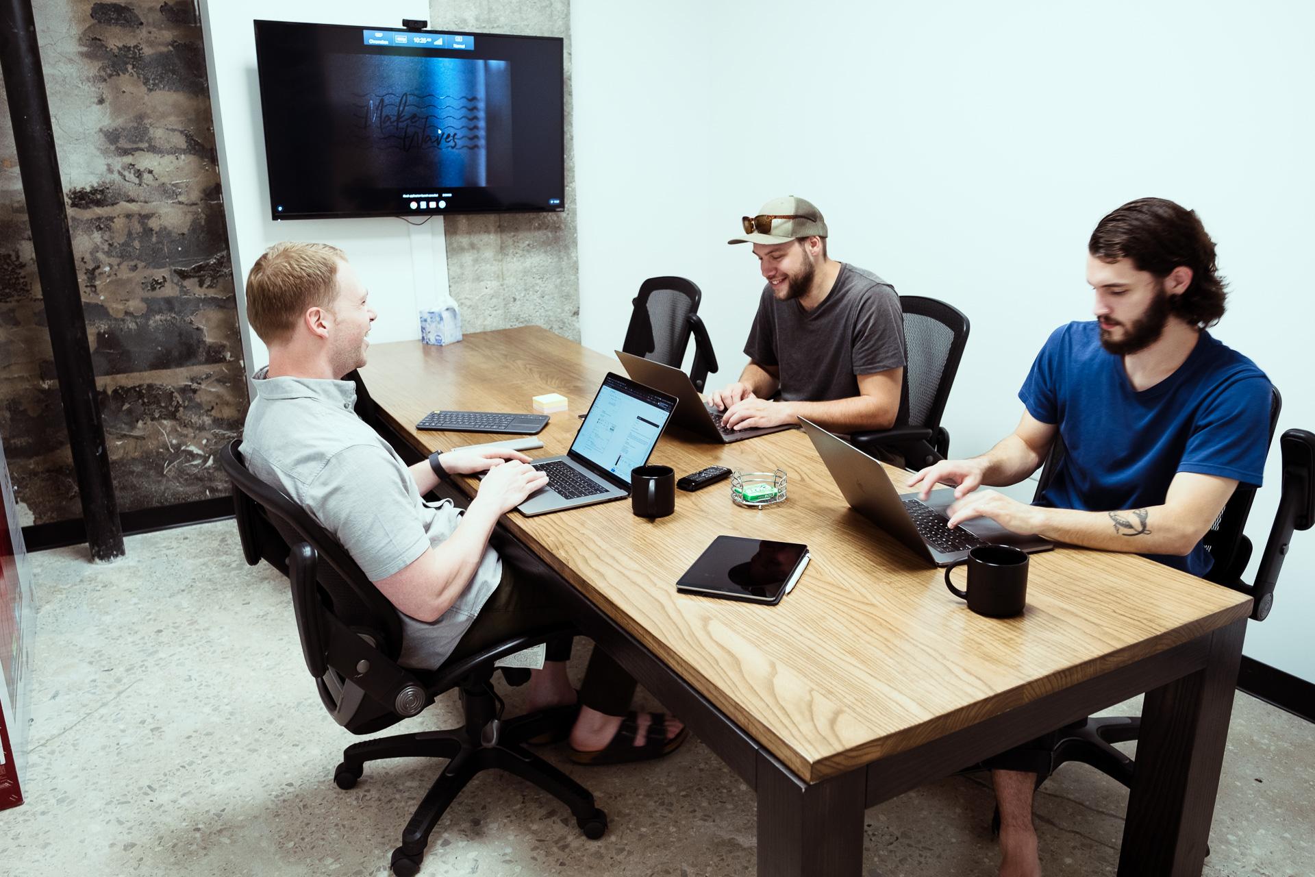 headway development team collaborating during team week