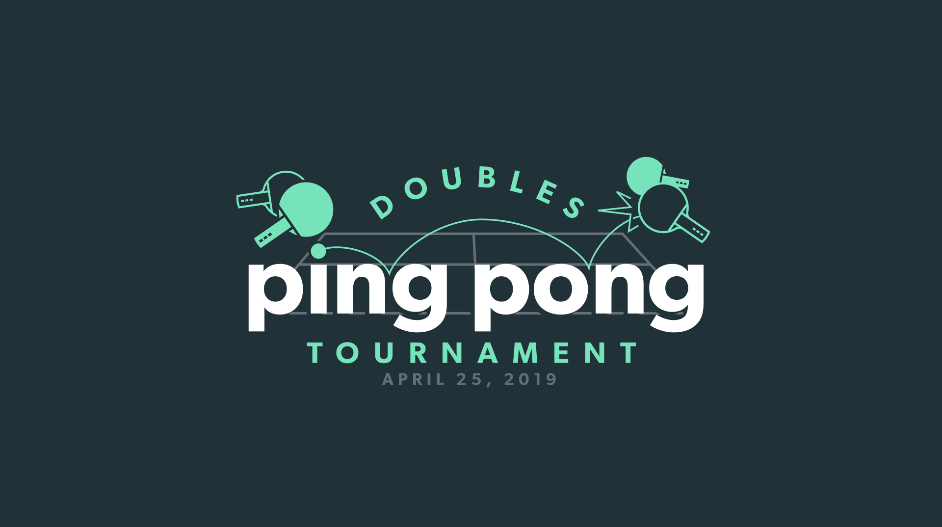 2019 ping pong tournament promotional graphic