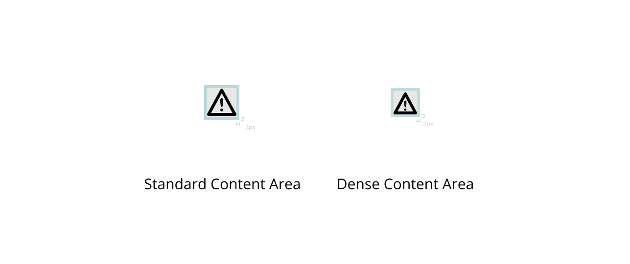 Content area guidelines for icons