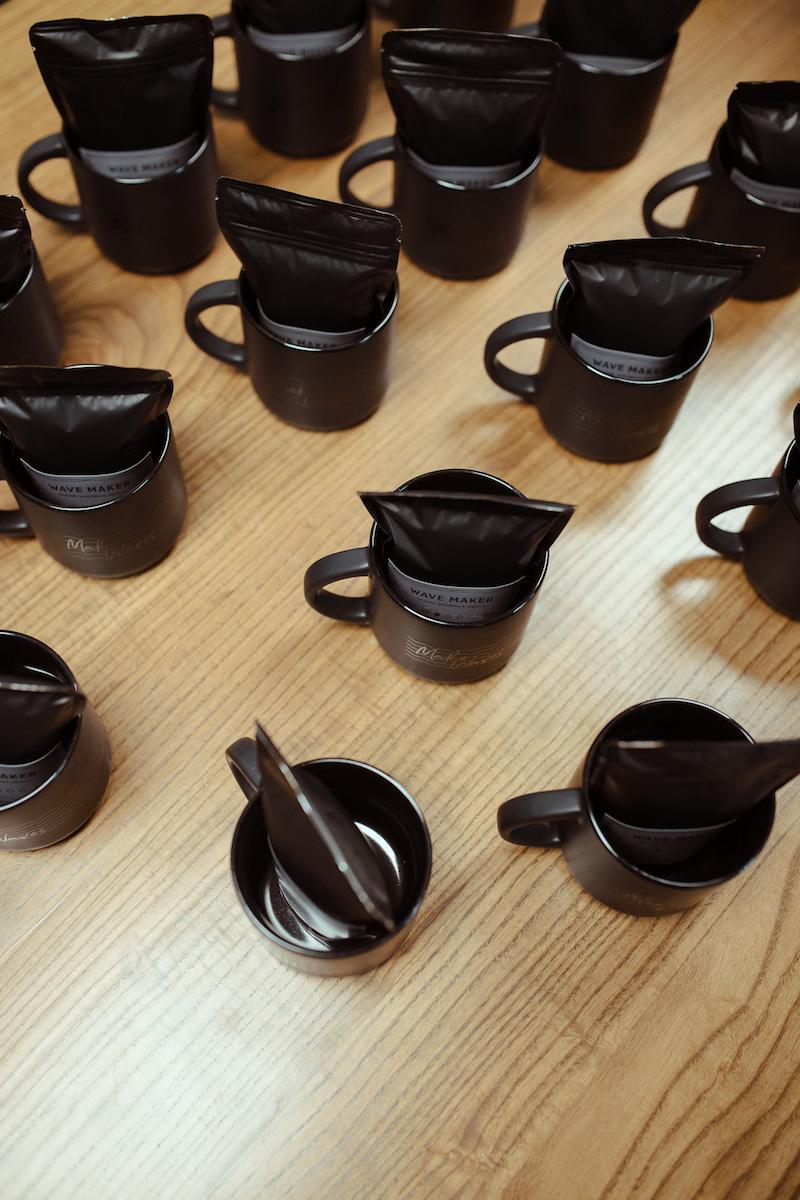 coffee mugs with coffee inside