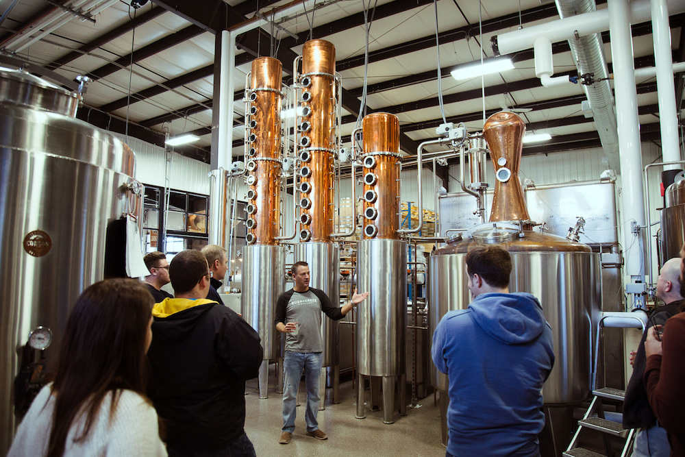 group on brewery tour
