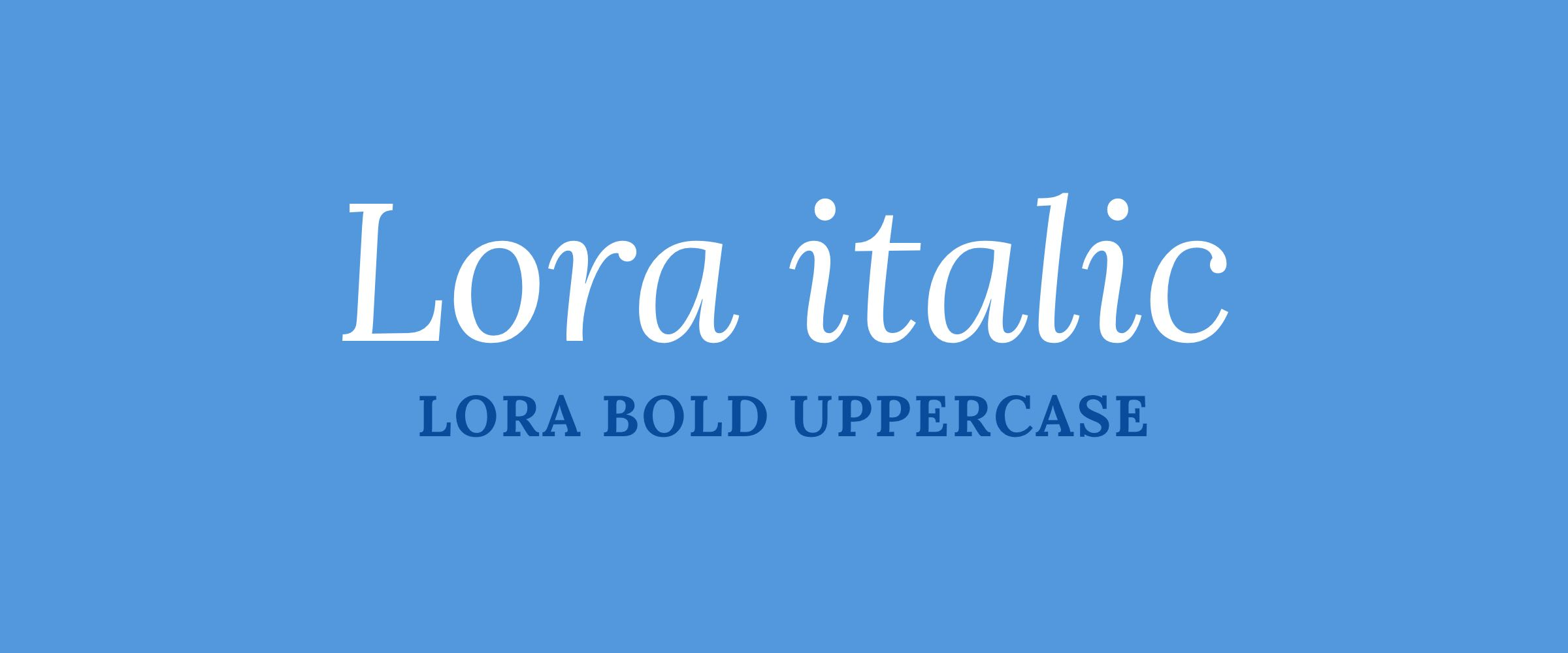 Introduction to Font Families