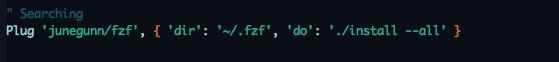 Install fzf vim plug