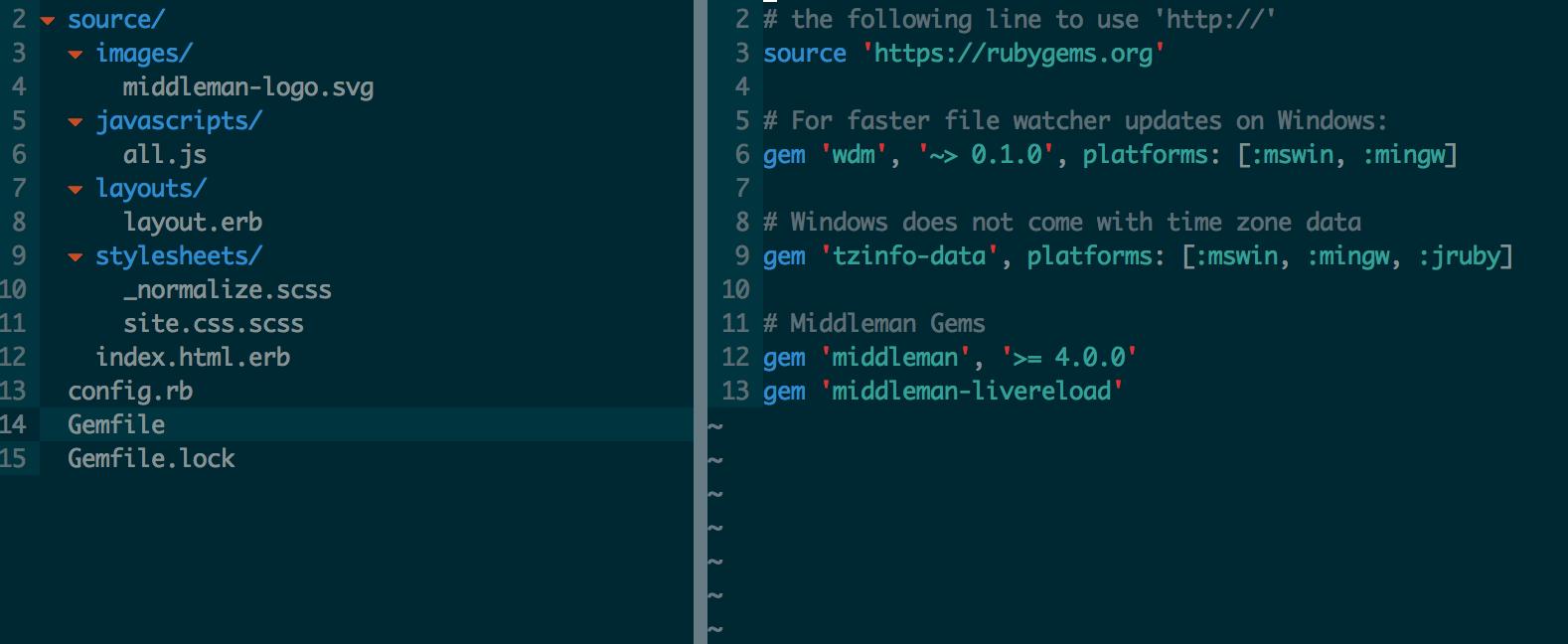 Default Middleman File Structure