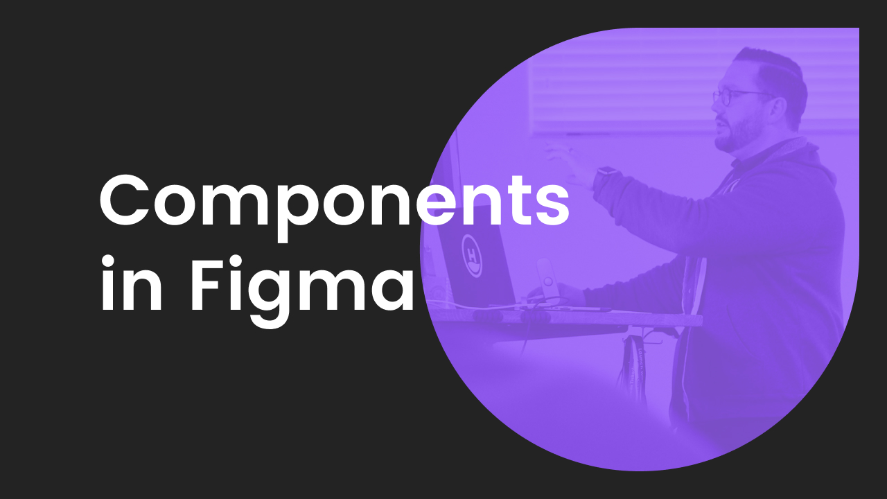 using components in figma promotional graphic