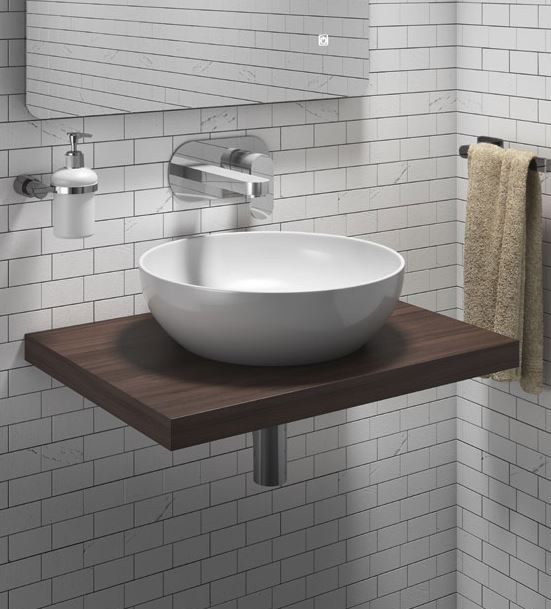 floating basin in a bathroom