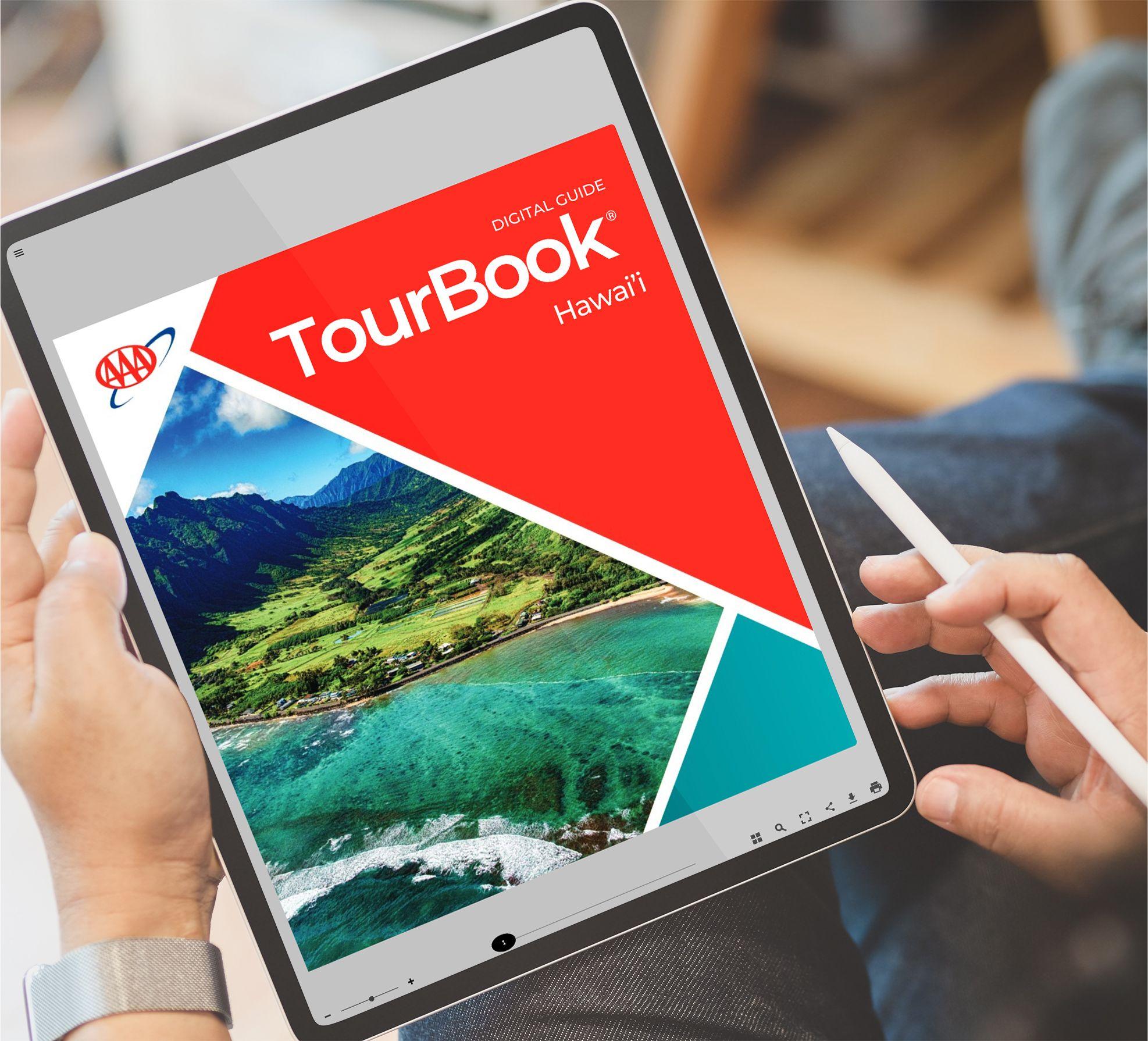 Hawaii Tourbook on a Tablet