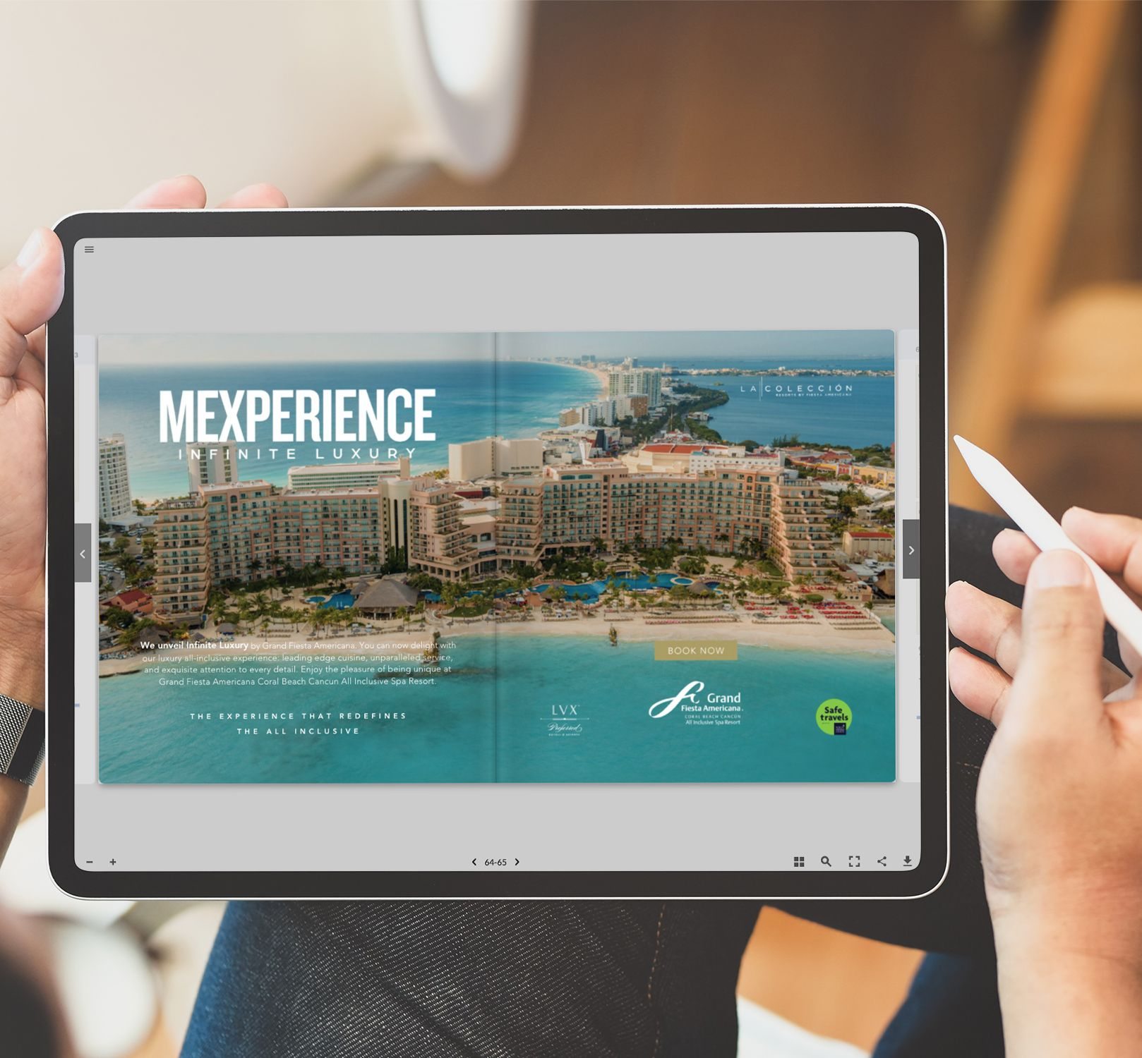 Digital Tourbook Avertising on a Tablet Mexperience Ad