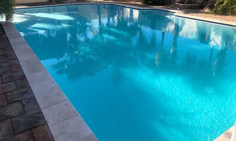 Pool after cleaning in AZ