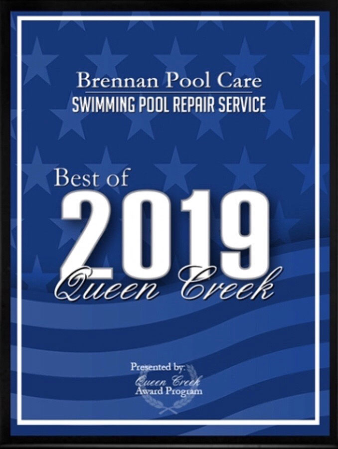 Brennan Pool Care was awarded the Best of 2019 Swimming Pool Repair Service in Queen Creek