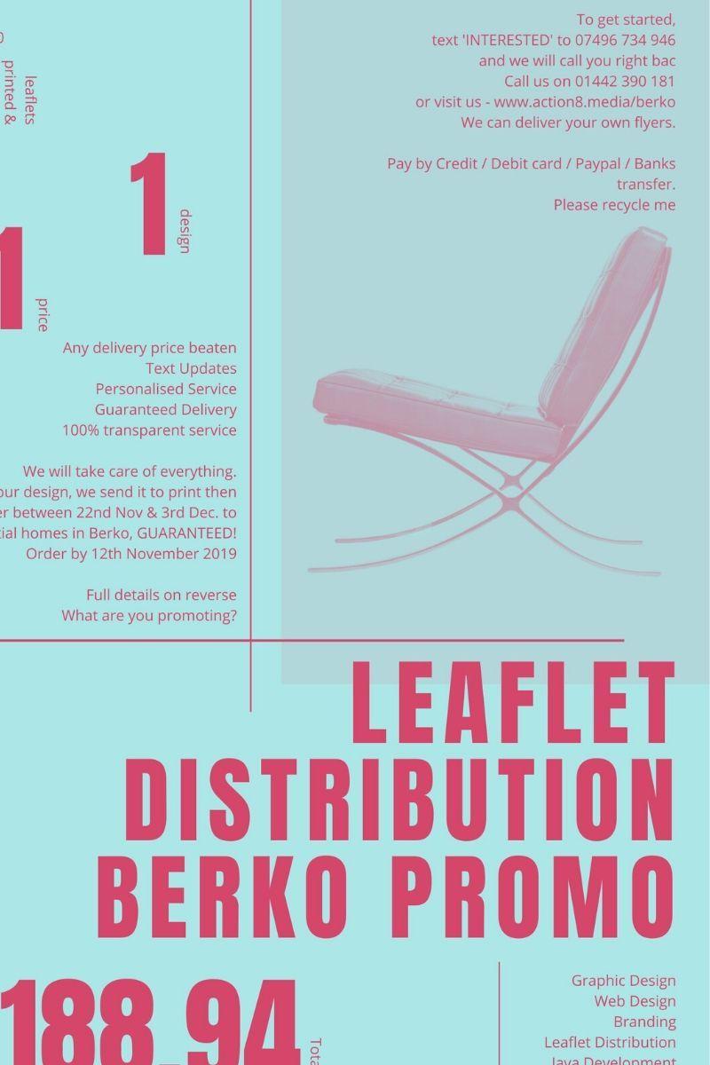 A Leaflet advertising Leaflet Distribution