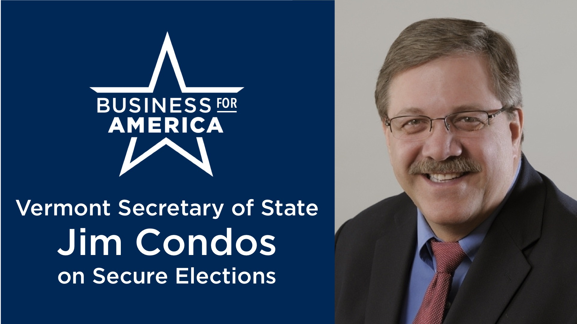 Vermont Secretary of State Jim Condos on Secure Elections
