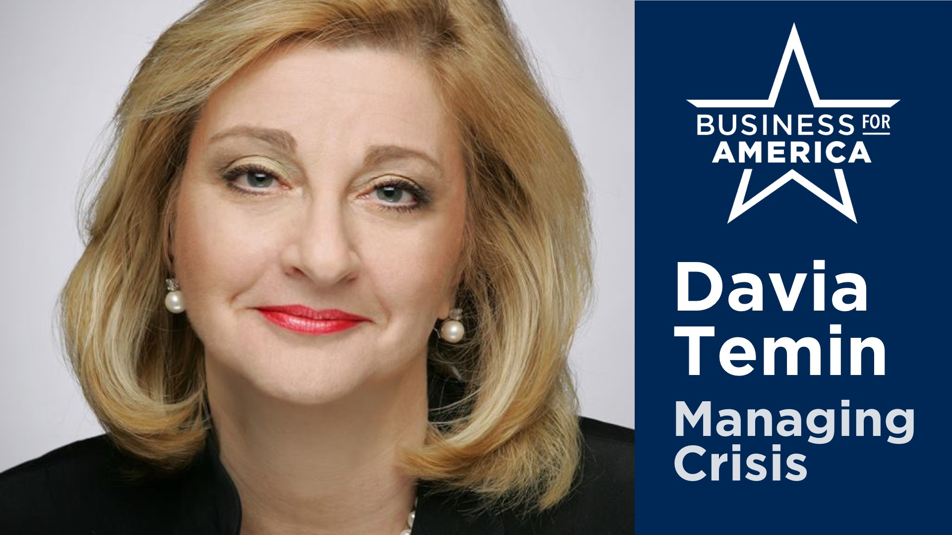 Davia Temin of Temin & Co. • Managing Crisis in an Era of Disruption