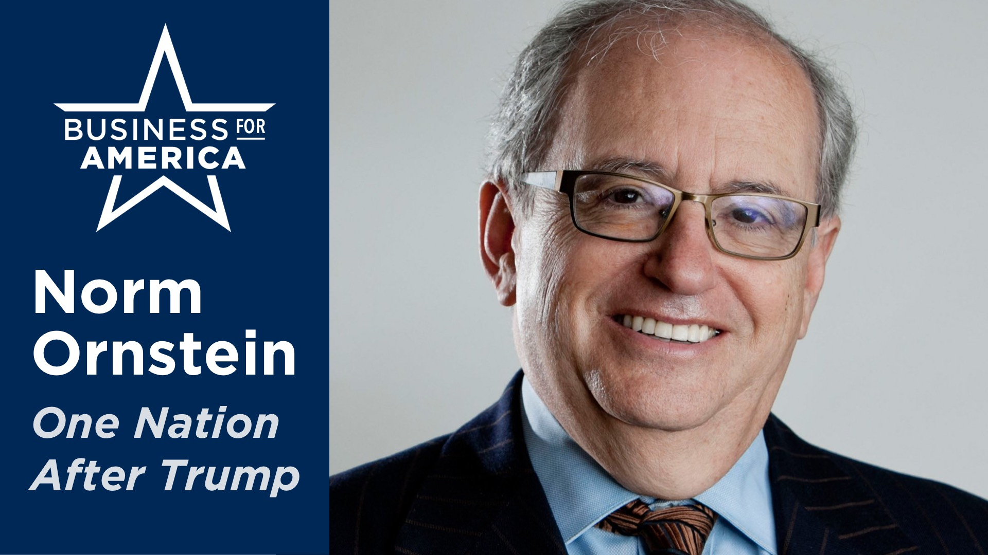 "American Enterprise Institute's Norm Ornstein • ""One Nation After Trump"""
