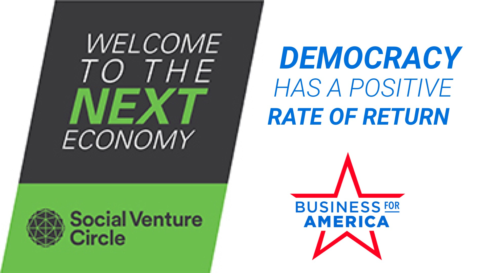 NEXT Economy LIVE! Strengthening our Democracy: A Smart Way to Create a Positive Rate of Return