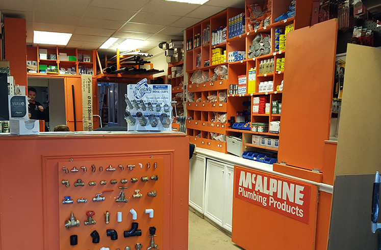 Plumbing shop and products.