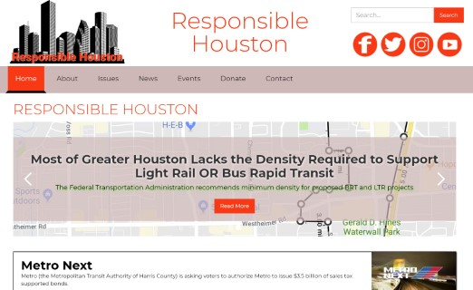 New website for Responsible Houston