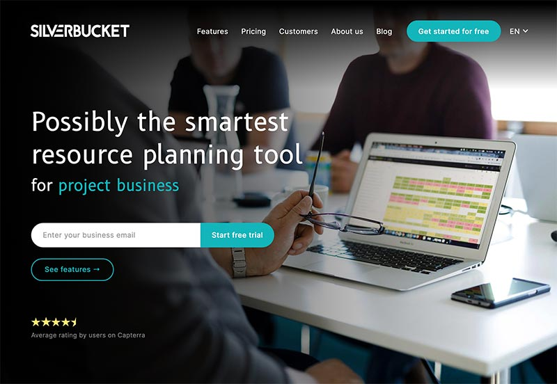 Silverbucket website by Samuli