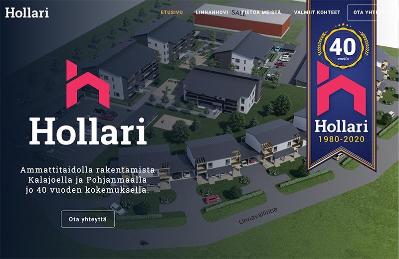 Hollari website by Samuli
