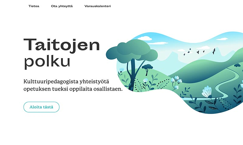 Taitojen polku website by Samuli