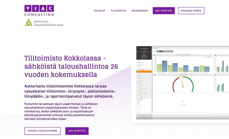 Viac website by Samuli