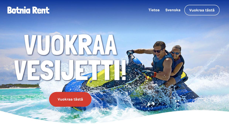 Website for Botnia Rent by Samuli Jokinen