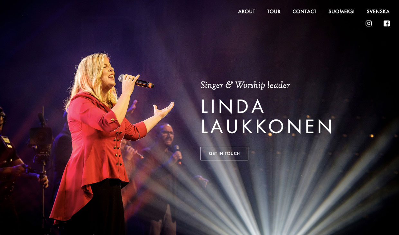 Website for Linda Laukkonen by Samuli Jokinen