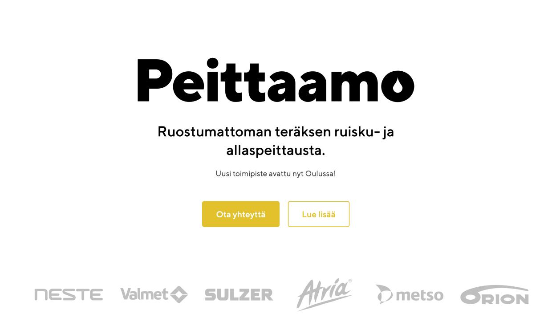 Website for Peittaamo by Samuli Jokinen