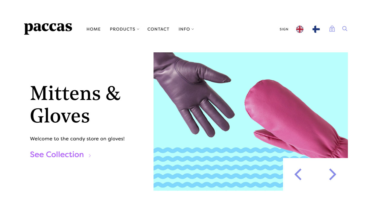 Online store for Paccas by Samuli Jokinen
