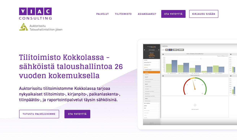 Website for Viac by Samuli Jokinen