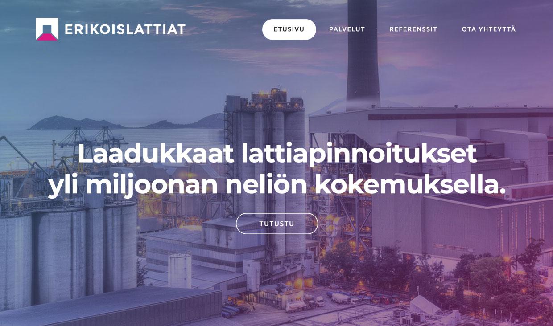 Website for Erikoislattiat by Samuli Jokinen