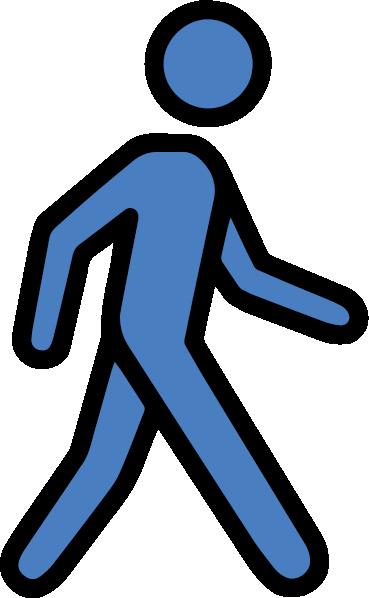 blue waking icon