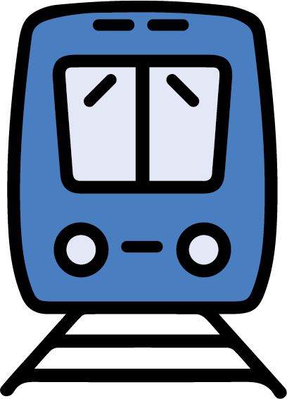 blue train icon