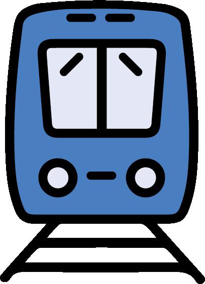 blue train icon