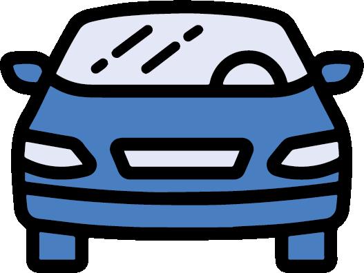 Blue car icon