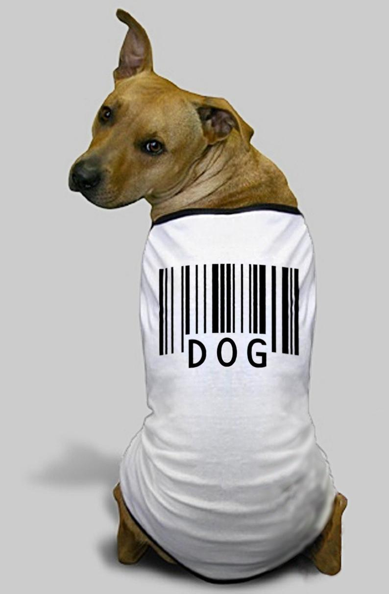Image result for dog with barcode image