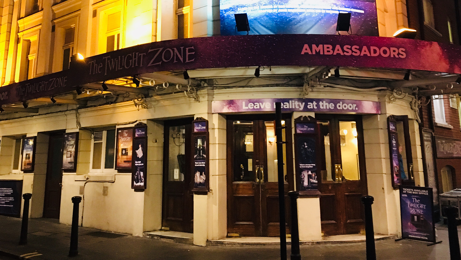 External of the Ambassadors Theatre