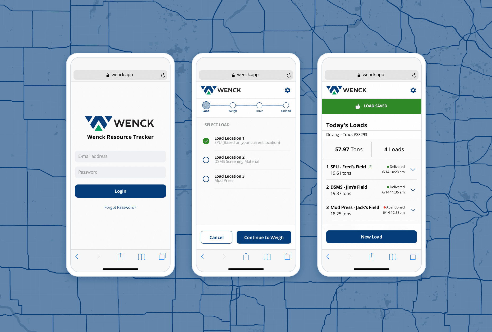 Wenk Mobile UI