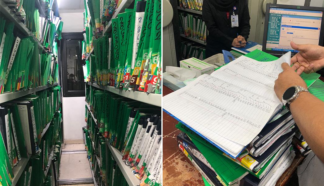 El registro de las operaciones y expedientes del Hospital General Dr. Erfan & Bagedo se realizaban en papel y a mano.