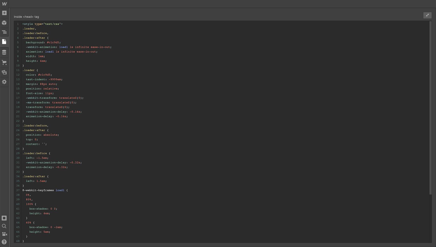 Fullscreen code mode