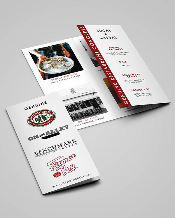 Printed Brochures - Color Services