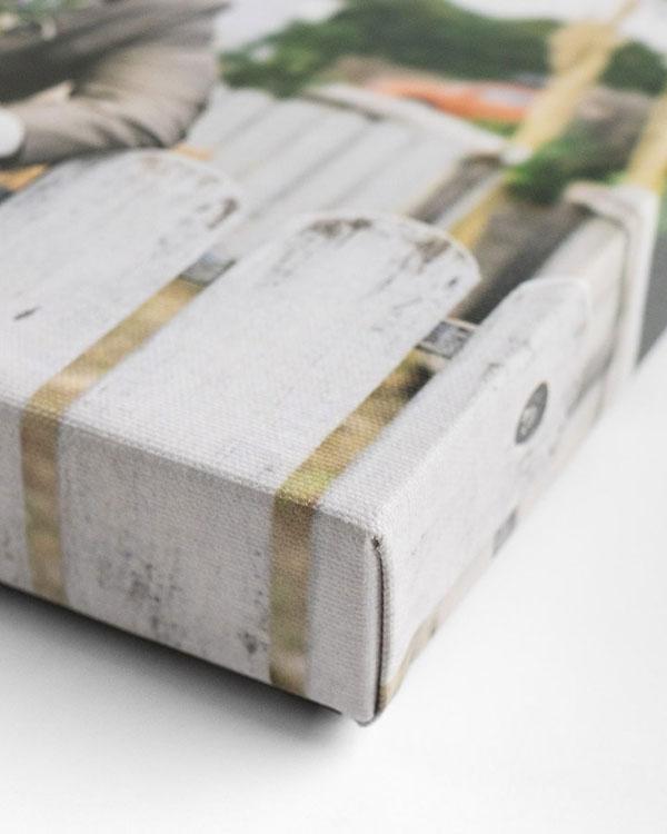 Detail View of Canvas Prints - Color Services