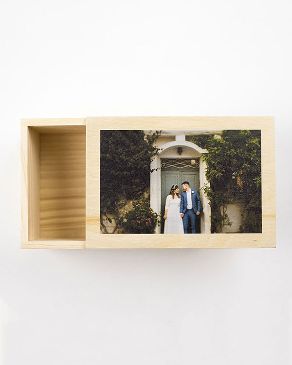 Customized Photo Wood Boxes - Color Services