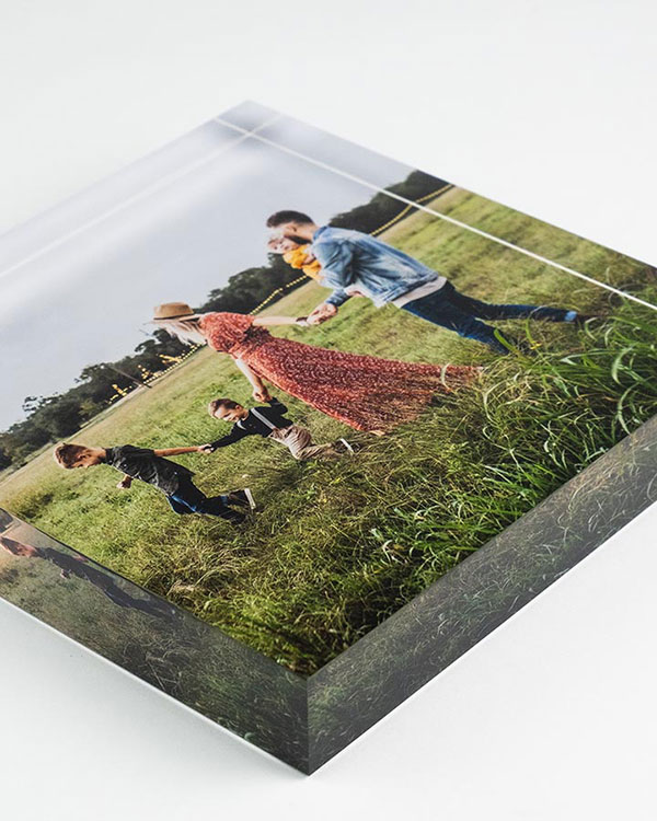 Side View - Acrylic Photo Blocks - Color Services - Santa Barbara