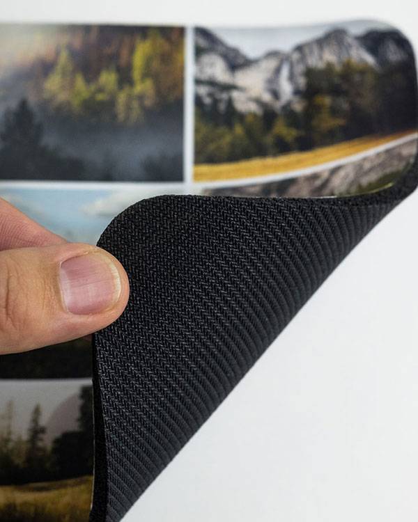 Detail View of Underside of Photo Mousepads - Color Services